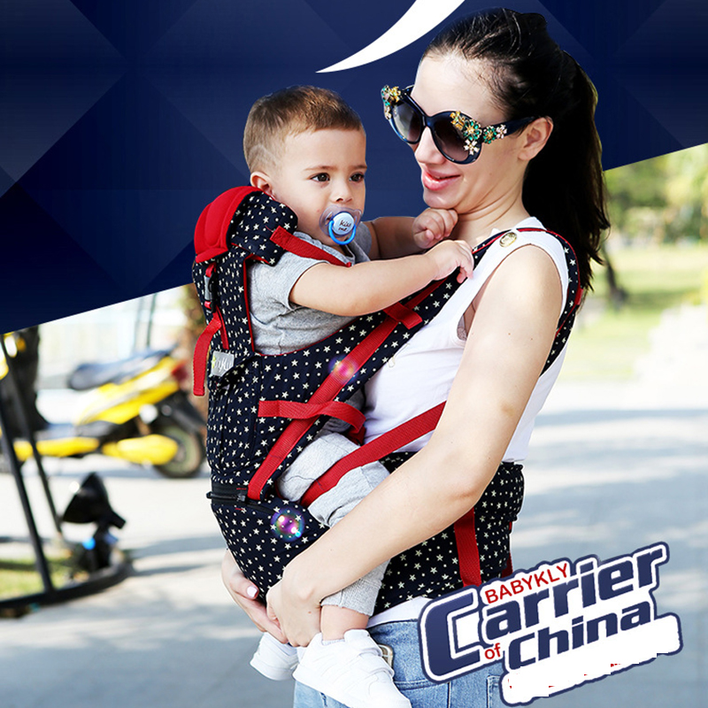New Upgraded 1-30 months breathable 4 in 1 baby carriers 100% cotton ergonomic baby carrier with hipseat Sling Backpack Pouch free shipping 4 in 1 soft structured baby carrier 15 colors baby carrier 15 kinds baby sling baby pouch
