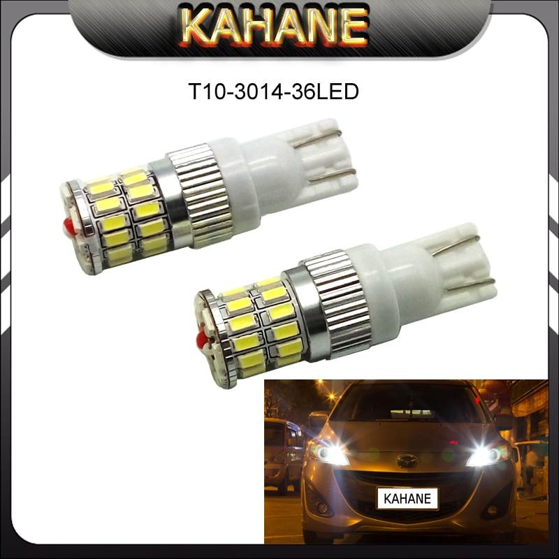 2PCS Canbus Error Free Heatsink Car LED Light W5W T10 3014 36SMD Eyelid Auto Lamp Bulb for BMW M E60 E90 X1 X3 X5 X6 E70 E71 E83
