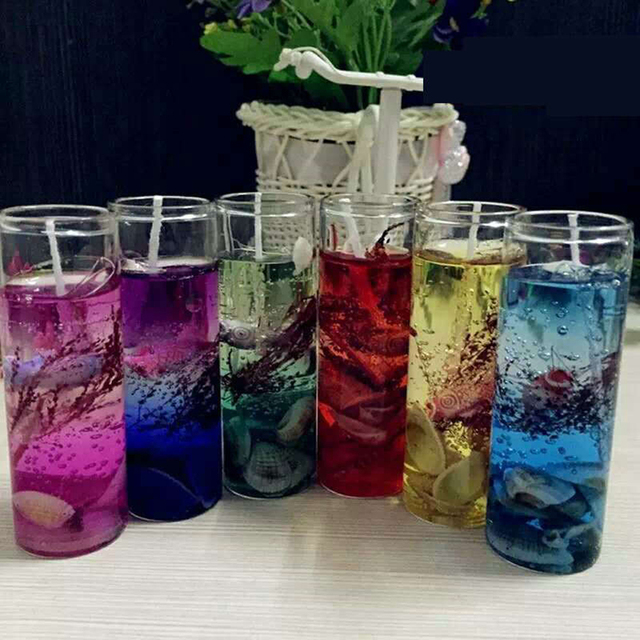 New Art Ocean Jelly Aromatherapy Candles Wedding Valentines Romantic Scented Candle Decoration Random Smokeless Candle  4
