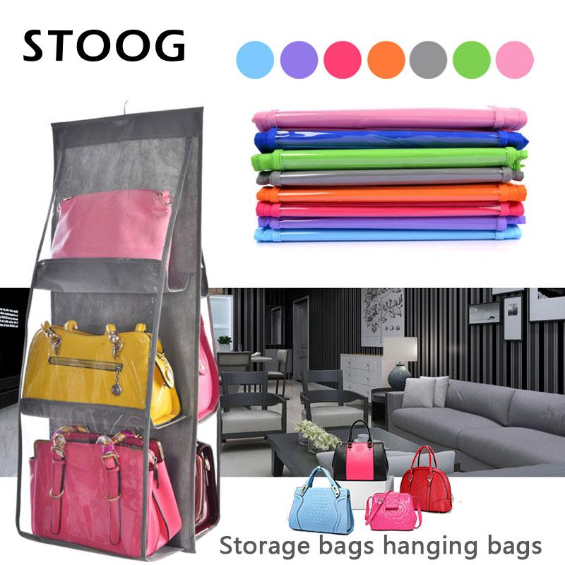 Double-sided Six Grid 90cmx35cmx35cm Wardrobe Closet Storage Practical Non Woven Fabric Bedroom Storage Hanging Bag Big Clearance Sale Home & Garden