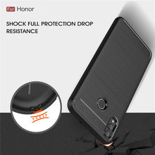 Honor 8X Cases Cover Shockproof Huawei Honor 8 9 10 Lite 7X 6X 5X 8C Play Carbon Fiber Bumper TPU Silicone Protector Case Cover(China)