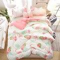 JaneYU colcha de invierno de algodón lavada de alta calidad piel suave colcha de dormir desnuda grueso núcleo de otoño e invierno