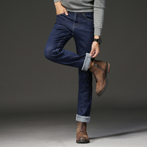 Image 4 - 2019ใหม่ผู้ชายกิจกรรมThicken Warmกางเกงยีนส์ฤดูใบไม้ร่วงกางเกงยีนส์ฤดูหนาวWarm Flocking Warm Soft Menกางเกงยีนส์Fitสำหรับ 15