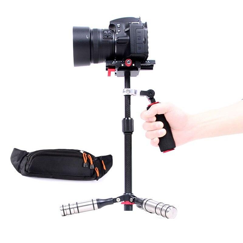 Lightdow trois axes en Fiber de carbone Super léger stabilisateur vidéo de poche caméra Steadicam pour Canon Nikon Sony DSLR appareils photo/DV