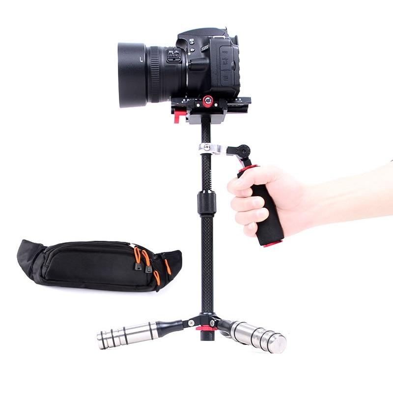 Three-axis Carbon Fiber Super Light Handheld Video Stabilizer Camera Steadicam Stabilizer for Canon Nikon Sony DSLR Cameras/DV viltrox yb 3m 3m professional extendable aluminum alloy strong camera video crane jib arm stabilizer for canon nikon sony dslr