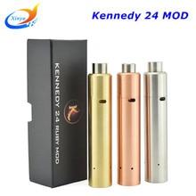 Tipo de Goteo cigarrillo electrónico mod mecánica Kennedy 24 rubí bobina reemplazable con cobre 18650 batería vape mod e cigarrillos