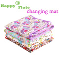 Happy Flute changing mat with colorful blinding new design baby blanket waterproof and comfortable