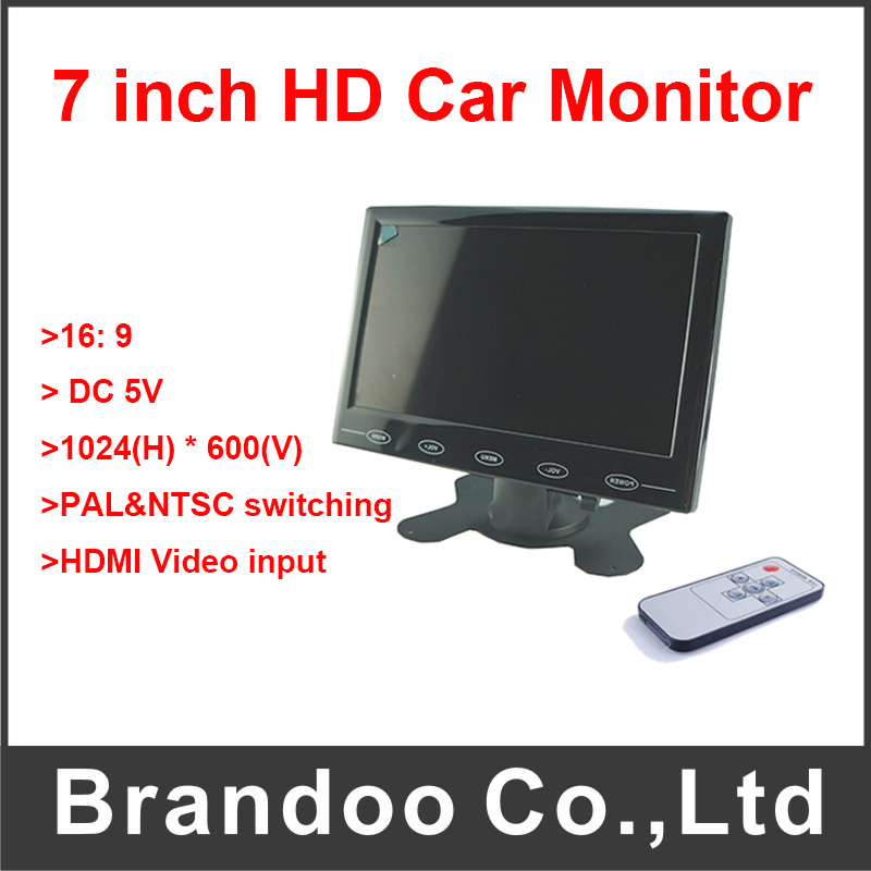 HD Car Monitor 7 Inch Support HDMI Video Input For Bus
