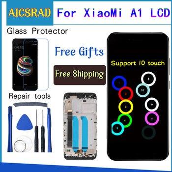 สำหรับ Xiao mi mi A1 จอแสดงผล LCD + กรอบ 10 หน้าจอสัมผัส Xiao mi mi 5X LCD Digitizer หน้าจอสัมผัสเปลี่ยนอะไหล่