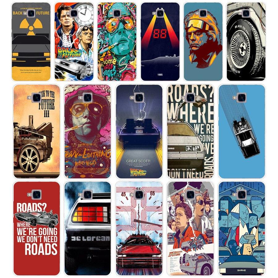 18dd Terug Naar De Toekomst Delorean Outatime Nummerplaat Cover Voor Huawei Honor 5c Geen Zonder De Vingerafdruk Gat Versie Voor Ru