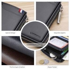 Image 5 - LAORENTOU Men Wallet Genuine Leather Card Holder Man Luxury Short Wallet Purse Zipper Wallets Casual Standard Wallets for Male