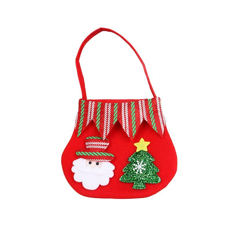 Christmas Candy Bags Cute Reindeer Gift Treat Goodie Bag Gift Sack Xmas Stocking Stuffers Handbag Christmas Ornament