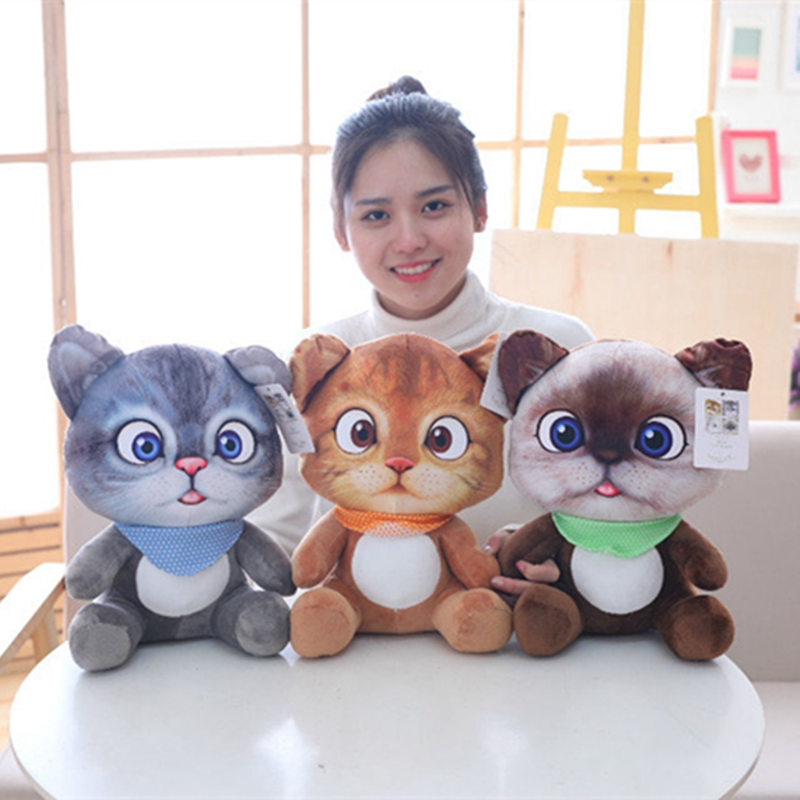 Kids Toys Cat-Doll Gifts Stuffed Plush-Animals Girls 20cm Mini Cute Cartoon 1pc