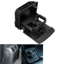 Mayitr novo preto centro console apoio de braço copo suporte de bebida de água suporte para V W j etta MK 5 g olf MK 5 MK 6 GT I R 32