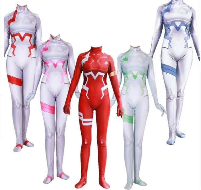 2018 Cosplay Bodysuit Zero Two Darling In The Franxx 002 Cosplay