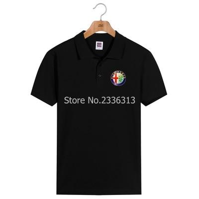 Polo Men And Women Summer Alfa Romeo Polo Shirt Custom Car Club Cotton Lapel Short Sleeve Tooling 4s Shop Uniforms