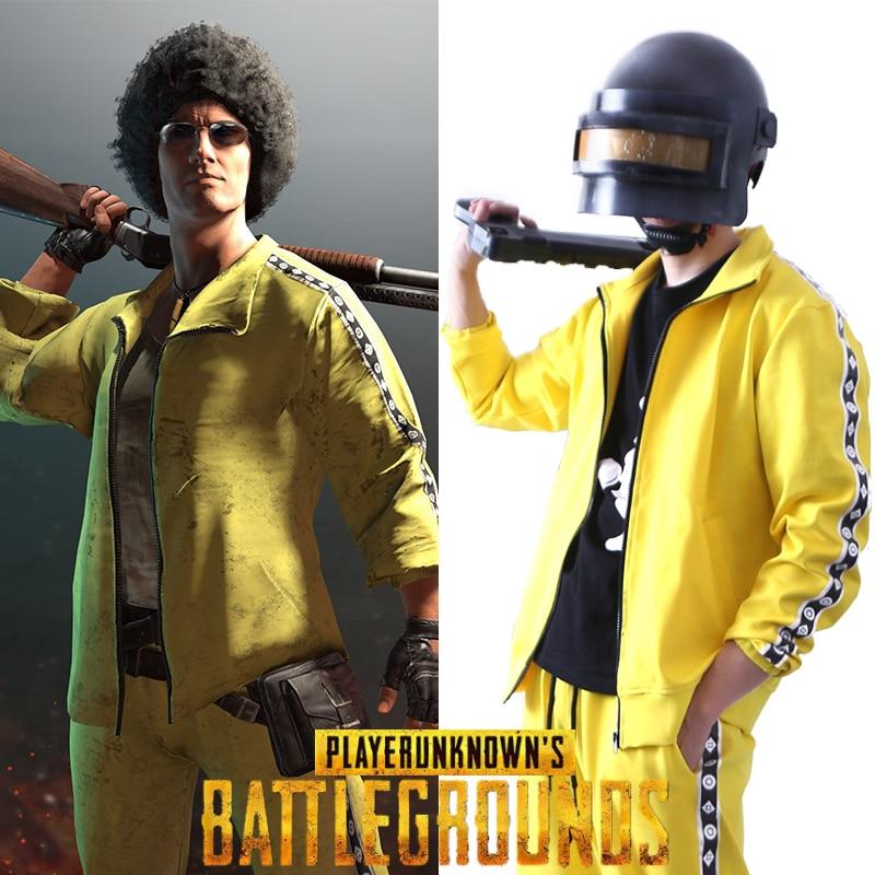 PUBG playerchamps de bataille inconnus Costume Cosplay manteau jaune Sportswear costumes veste manteau et pantalon