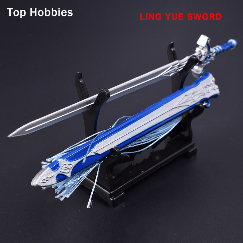 Ling Yue sword 1/6 Scale Ancient soldier Metal Alloy cold weapon attached model swords blade is not open about 17cm length swords of glass