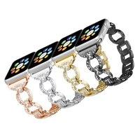 2018 Нержавеющаясталь ремешок для Apple Watch 42 мм/38 мм iwatch 3/2/1 diamond Link браслет наручные часы группы металлический черный ремешок