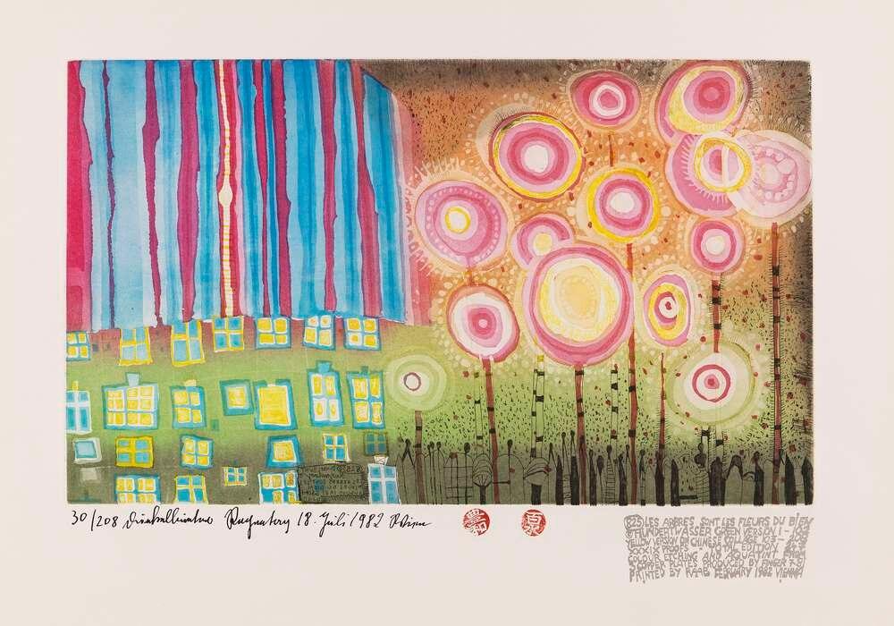 Die Baume sind die Blumen des Guten Poster Print Abstract Landscapes Wall Picture