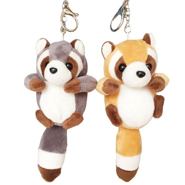 1pc 10cm Small Cute Raccoon Plush Bag Pendant Kawaii Staffed Raccoon