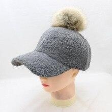 BING YUAN HAO XUAN WinterThickening Fluff ball Fabric Men Women Baseball Caps High Grade Cotton Hip Hop Cap Hats Bone Snapback