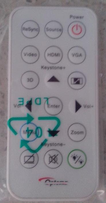 CN-KESI FIT Original  Projector Remote Control  Optoma S315,S316,X316,X315..Projectors(Red Label) new projector remote control for optoma hd33 br 3060b hd25 hd25 lv br 3037b