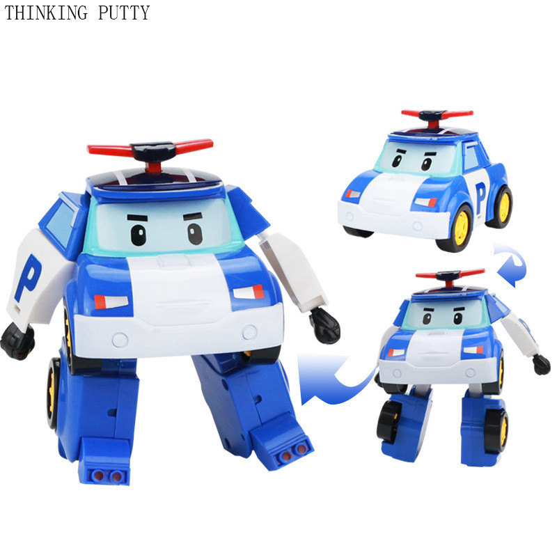 One Piece Classic Transformation Robocar Action Figures Toys For Children Korea Robot Anime Figures Model Toys Best Gifs For Kid 12pcs set children kids toys gift mini figures toys little pet animal cat dog lps action figures