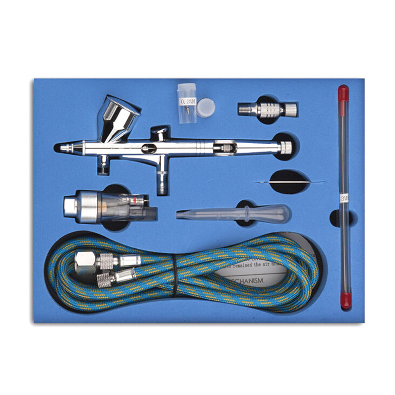 1 Set NEW Dual Action 3 Airbrush Air Compressor Kit Craft Cake Paint Art Spray Gun