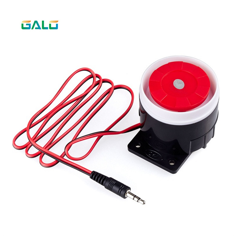 MINi Ear Piercing Indoor Wired Siren Mini Horn Siren Home Security Sound Alarm System 120dB Durable 12V ear piercing indoor siren wired mini horn siren home security sound alarm system 120db dc 12v hot promotion