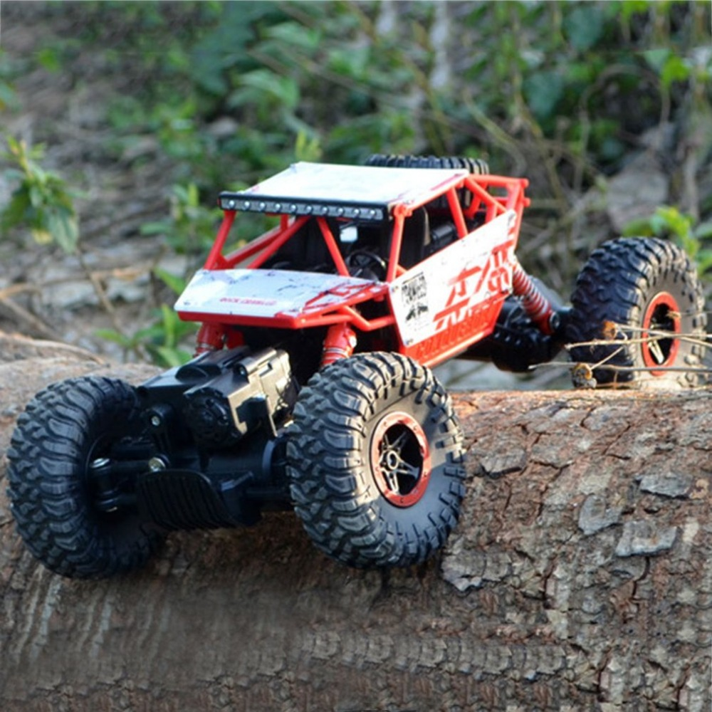 2.4G 4WD Rock Crawlers Driving Car Double Motors Drive Bigfoot Car Remote Control Car Model Off-Road Vehicle Toy EU Plug RC Car 2 4g 4wd rc rock driving crawlers remote control car double motors drive bigfoot car model off road vehicle toy rc car model