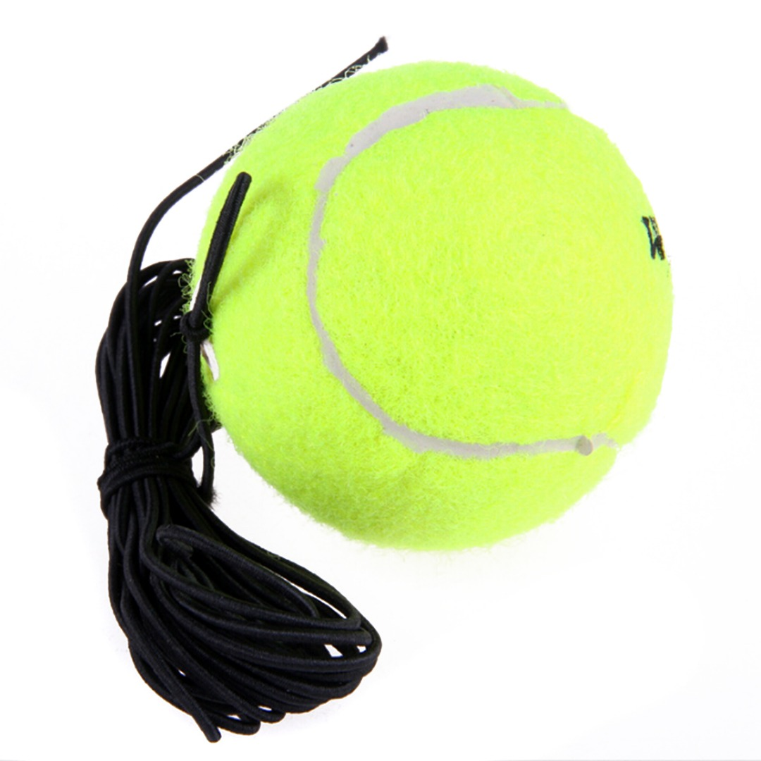 Rubber Woolen Trainer Tennis Ball With String Replacement Elasticity For Single Practice Training Training Ball Single Package