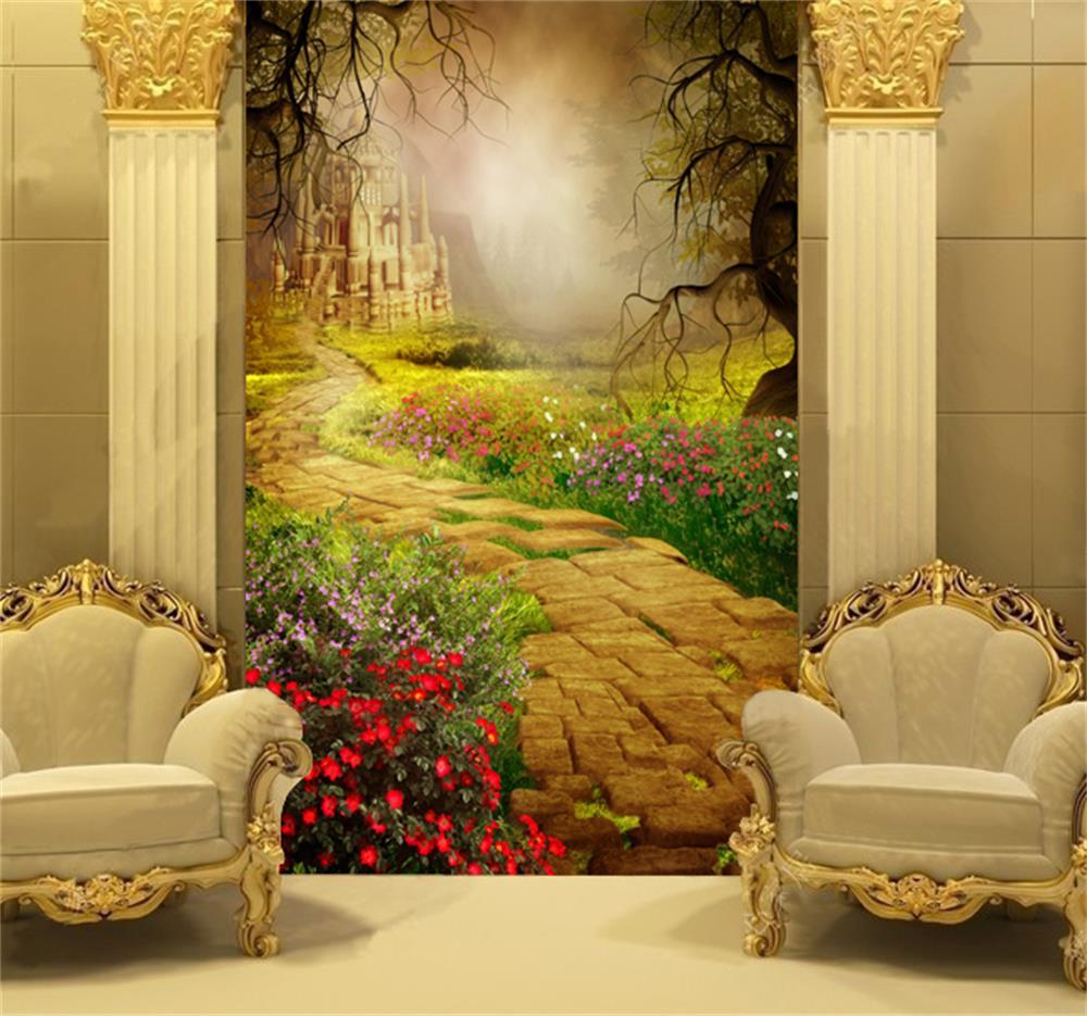 Castle sofa hearst castle sofa stan derelain thesofa for Castle wall mural wallpaper