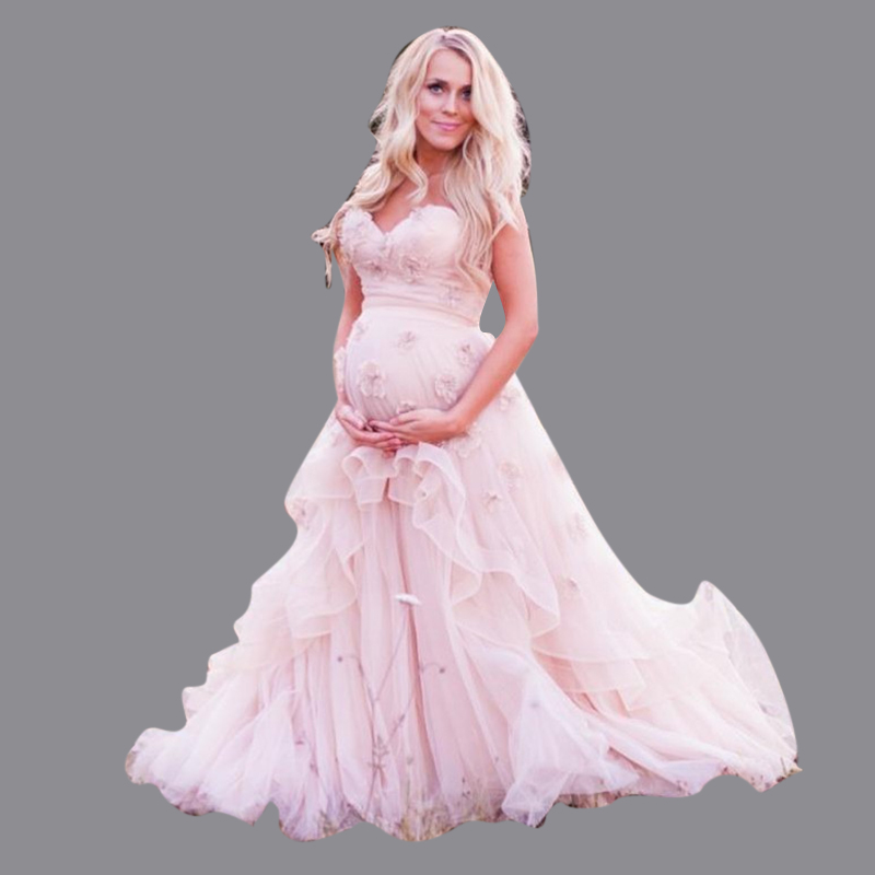 Affordable Maternity Wedding Gowns: 2016 New Vestidos Noiva Pink Ball Gown Maternity Wedding