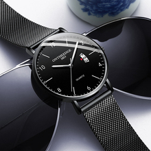 2019 Top Brand Luxury Men's Watch Mesh Belt Waterproof Date Luminous Clock Male Business Watches Men Quartz Casual Wrist Watch sinobi stainless steel men watches quartz movement luminous hands wrist watch band top brand luxury business watch for male