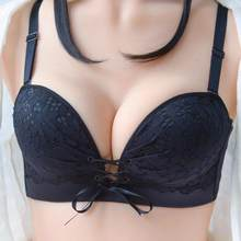 Sexy Strapless Invisible Bra Seamless Underwear Lace Strappy Push Up Bras Wire-Free Adjusted Women's Intimates(China)