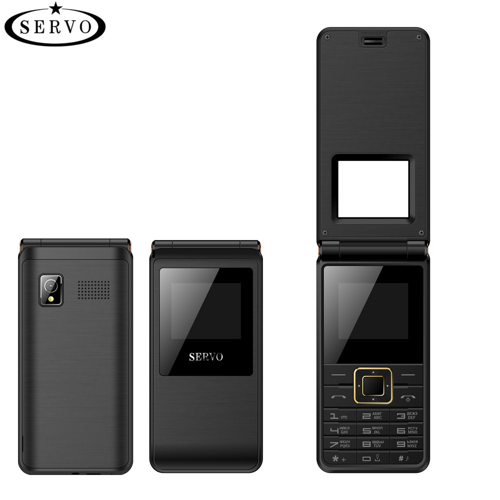 SERVO Flip-Phone GSM New Keyboard Fm-Radio Dual-Sim-Card Russian Spreadtrum6533 Vibration