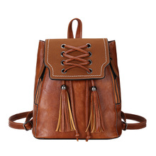 Brand Preppy Style Leather School Backpack Bag For College Simple Design Women Casual Daypacks mochila Female New  H19 цена 2017