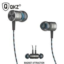Genuine  QKZ X41M Magnetic Earphones HIFI Fever in-ear Earphone HiFi Headhone BASS Earbuds Metal Headset for Earpods Airpods