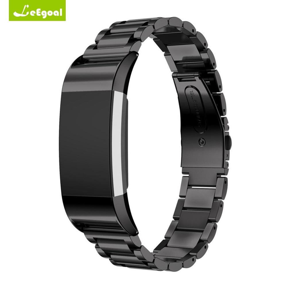 För Fitbit Laddning 2 Stålarmbandrem för Fitbit Armband Laddning 2 - Smart electronics