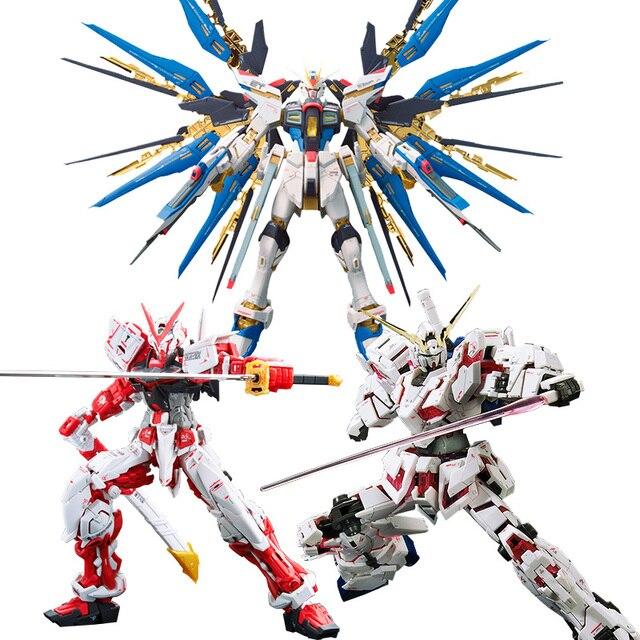 1:144 Bandai Model Gundam Plastic Model Assembly GUNPLA RG Attack Golden Red Heresy Unicorn Flying Wing 00r Angel Real Grade