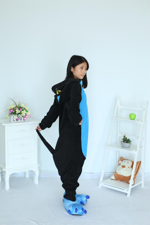 Στολές   αξεσουάρ Kigurumi Midnight Cat Onesies Sleepsuit Adults Cartoon  Unisex Men Women Black Cat Onesies Pajamas Cosplay Costumes 3b243739e