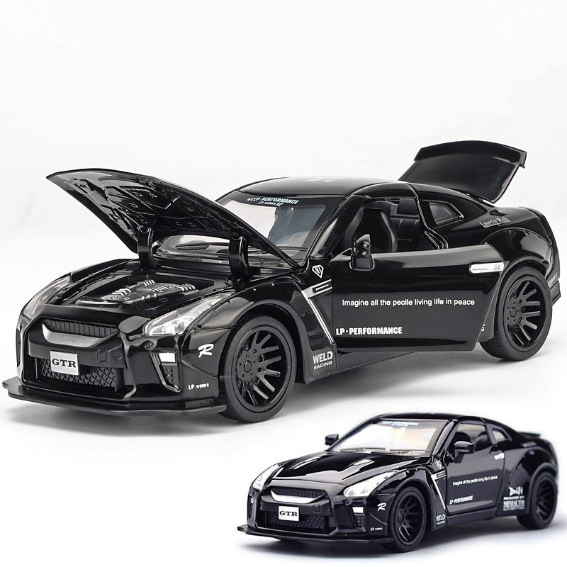 1:32 miniauto diecasts gtr toy car model auto oyuncak toys for children kids race car sport racing gt-r lv-n148