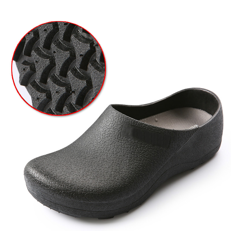 Non-slip Chef Shoes Hotel Kitchen Slippers Casual Flat Work Shoes Unisex Breathable Resistant Kitchen Cook Working Shoes