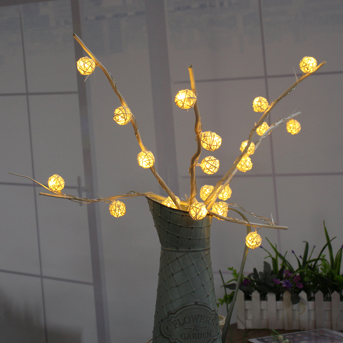 Aliexpress buy garden twig lights 25 led branch vase table aliexpress buy garden twig lights 25 led branch vase table lights outdoor wedding party home decoration romantic christmas blossom tree lamp from aloadofball Gallery