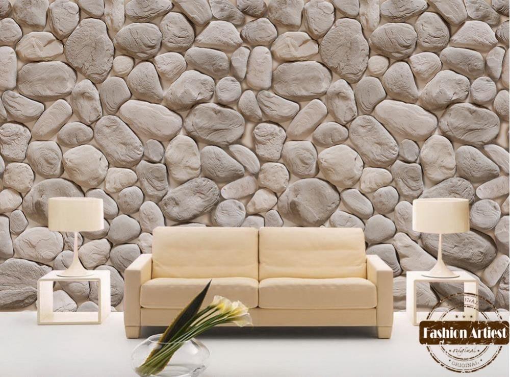 Custom Modern Fashion 3d Wallpaper Mural Wild Natural Rock Stone Wall Tv Sofa Bedroom Living Room Cafe Restaurant Background