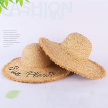 Hand-stitched edging summer outdoor beach visor female embroidery hat