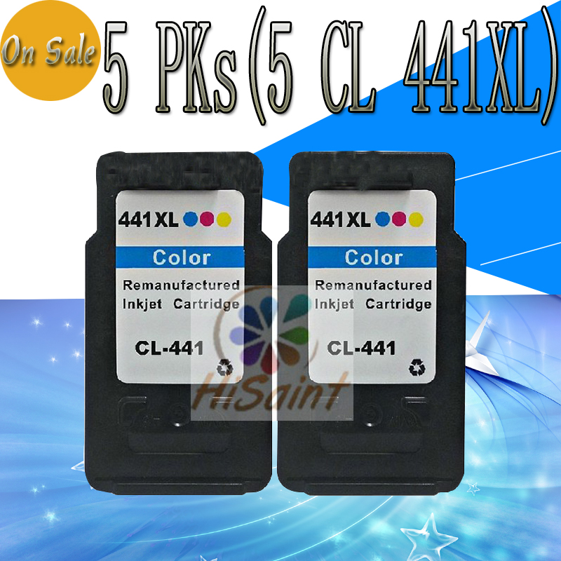 ФОТО 5PCs For Canon CL441 Ink Cartridge For Canon CL-441 xl For MG2180 MG318 0 MG4180 MG4280 MX378 MX438 MX458 printer