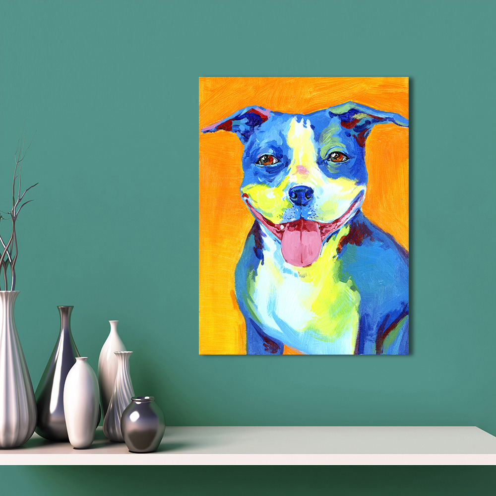 AAVV Wall Art Canvas Animal Painting Puppy Picture For Living Room Home Decor No Frame