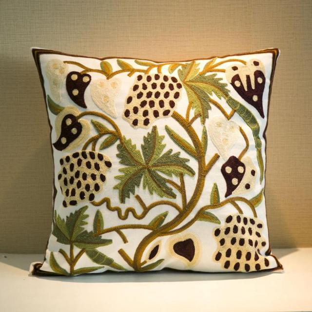 Pillowcase Almofadasgreen Garnet Pattern Pillow Front Hand